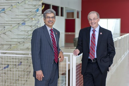 Vice Chancellor Prem S. Paul and Chancellor Harvey Perlman
