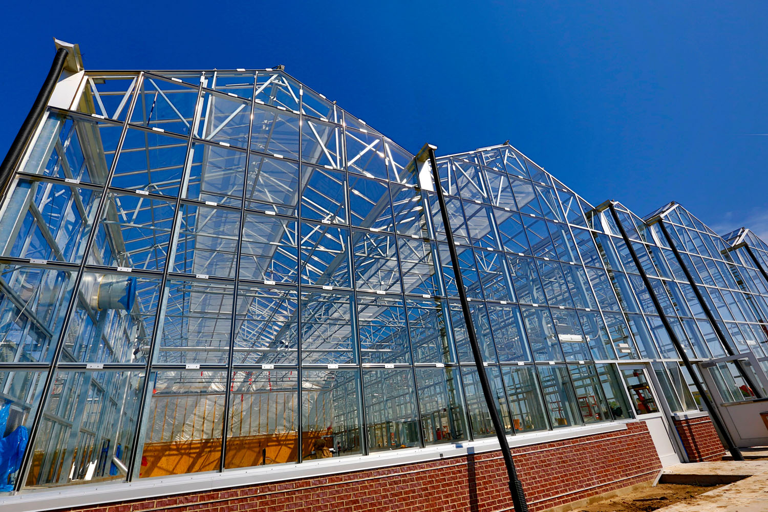 The Greenhouse Innovation Center features 45,950 square feet of greenhouse and headhouse space. The greenhouses are 22 feet tall at the eaves to allow optimal air flow. They are heated and cooled with sustainable energy.