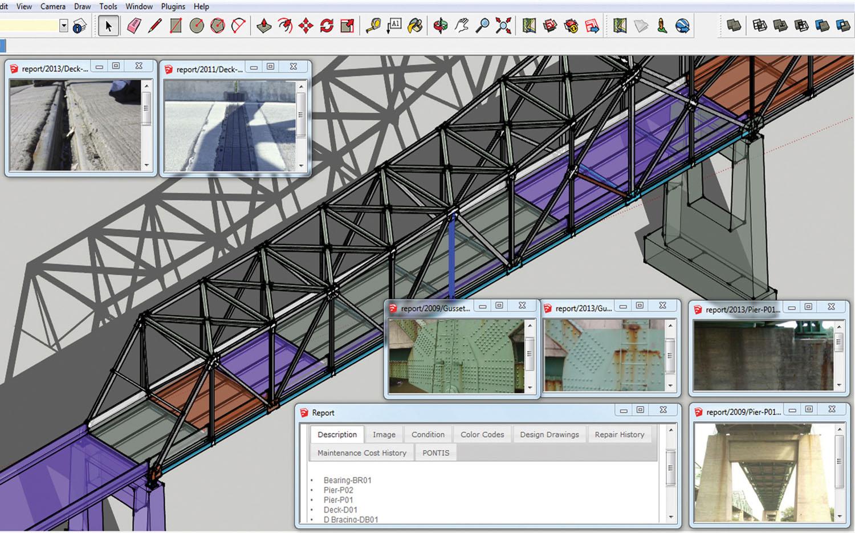 3-D bridge modeling tool