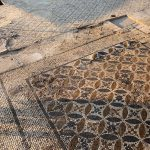 mosaic floor an UNL archeological team has uncovered in Turkey. July, 2019.