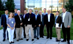 Pacific Northwest National Laboratory delegation, from left: Wei Qiao, Concetta DiRusso, Alexander Sinitskii; Jerry Hudgins,Jian Zhang, Michael Thompson, PNNL host; Prem Paul, Yasar Demirel, Jeff Shield, Fred Choobineh, Barry Cheung and Mike Nastasi.