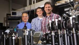 UNL physicists Anthony Starace, Martin Centurion and Herman Batelaan lead UNL's work with the Nebraska-Kansas Consortium, funded by NSF EPSCoR.